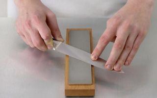 Как правильно точить нож бруском