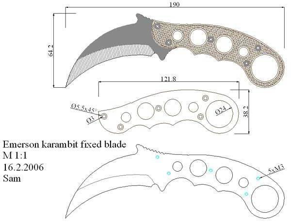 Нож керамбит: как выглядит (фото), что такоеи для чего нужен, чертеж