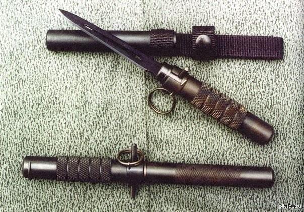 Баллистический нож с выстреливающим лезвием, многозарядный: описание, продается ли он